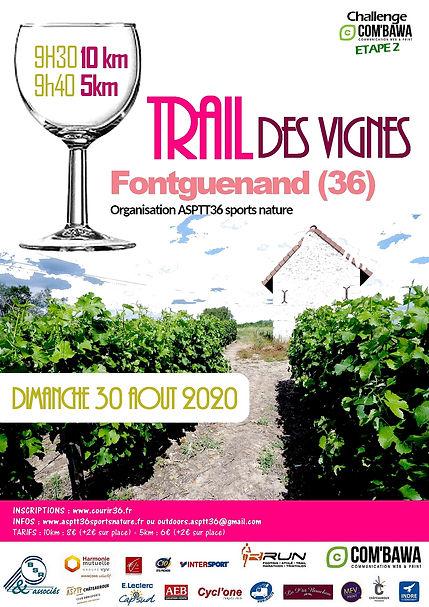 Flyer trail des vignes Fontguenand 2020.