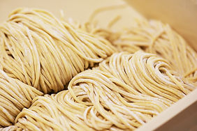 Raw asian ramen noodle texture - In Japa