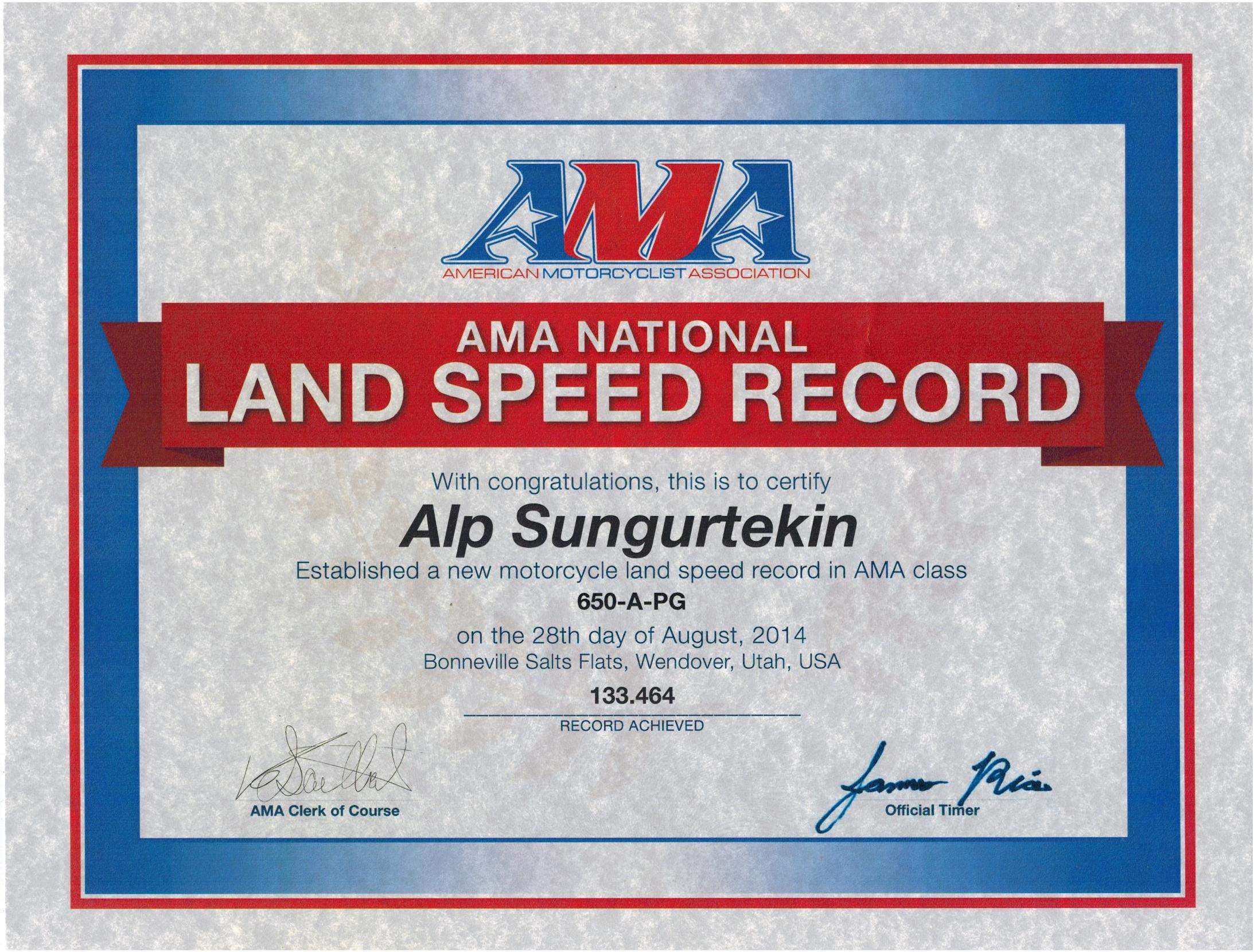 APG Record Cert