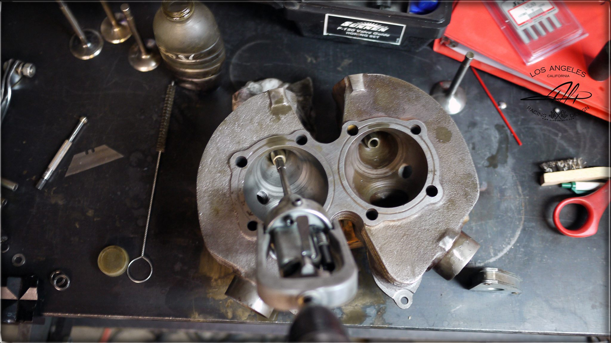 alp r-d honing cylinder guides on a ironhead