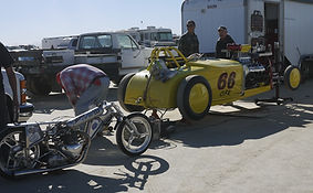 Alp Racing / BMR Roadster pit at El Mirage