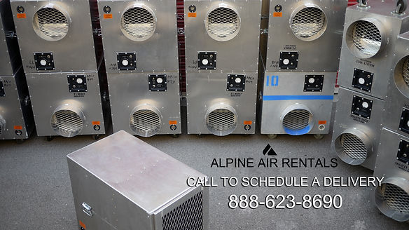 negative air machine rental