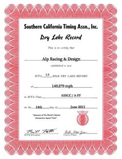 SCTA A-PF Record 2015