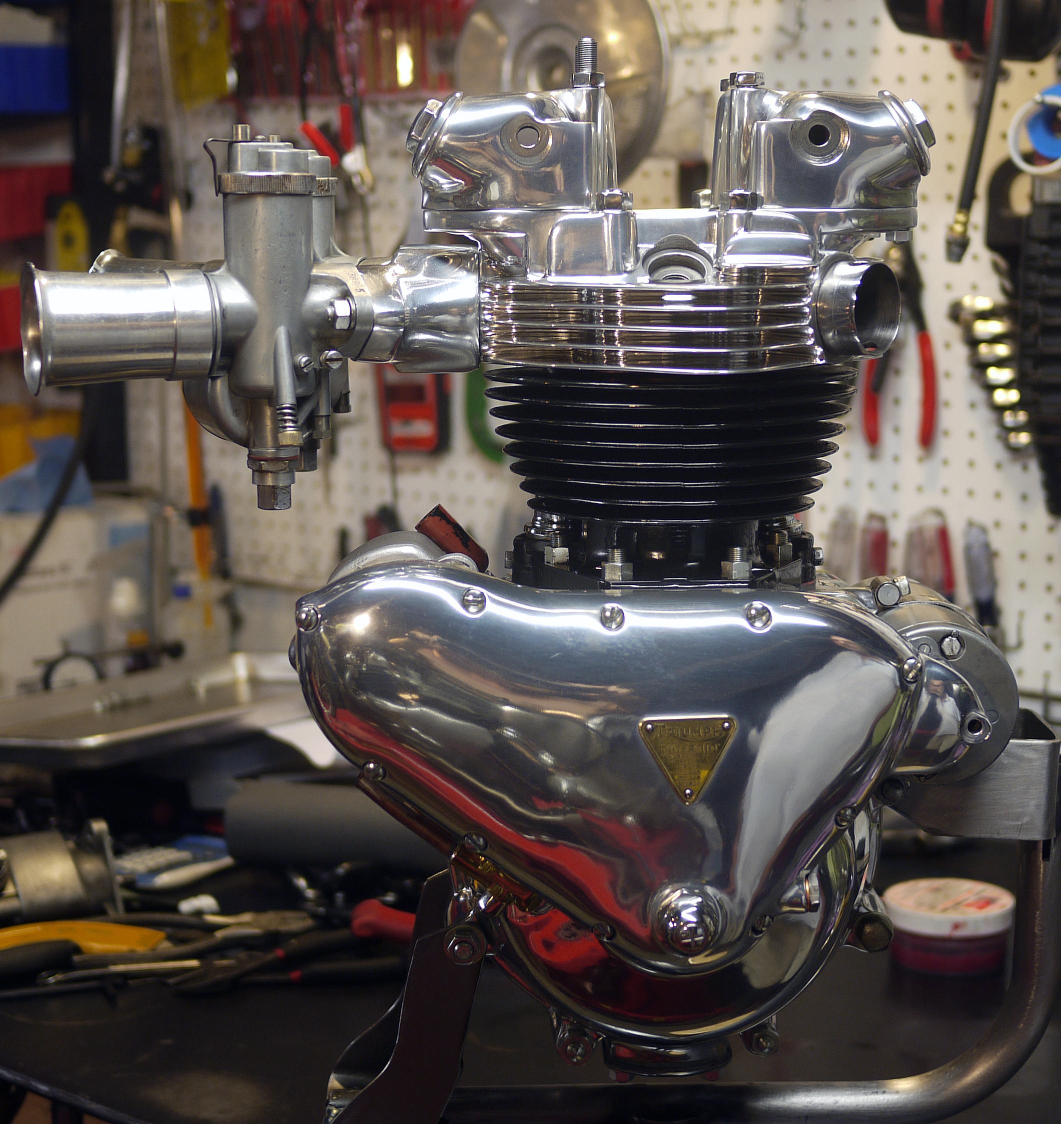 Alp custom pre unit engine 1956