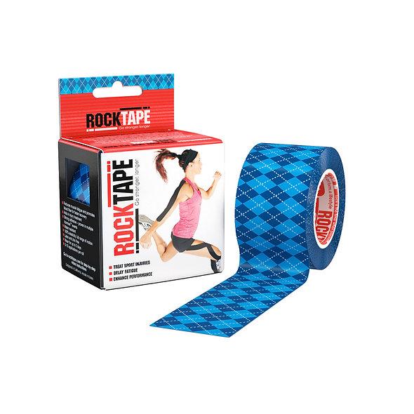 RockTape Patterns - Argyle Blue 5cm wide by 5m long.