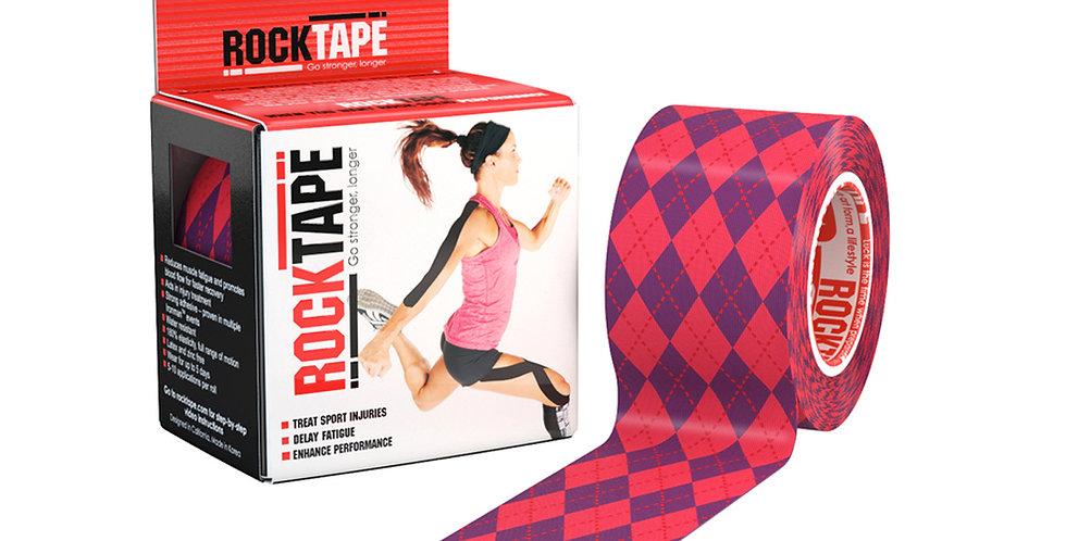 RockTape Patterns - Argyle Pink 5cm wide by 5m long.