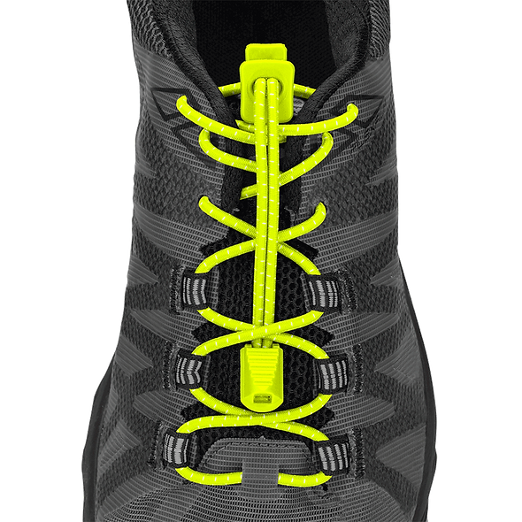 Nathan Sports Run Laces- Safety Yellow