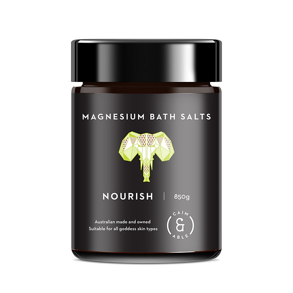 NOURISH MAGNESIUM BATH SALTS COCONUT & DESERT LIME 850g