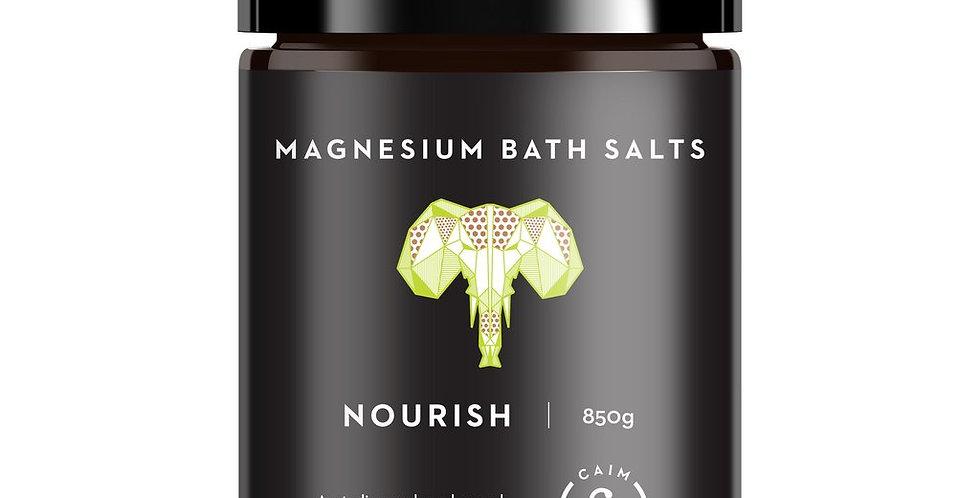 NOURISH MAGNESIUM BATH SALTS COCONUT & DESERT LIME 850g