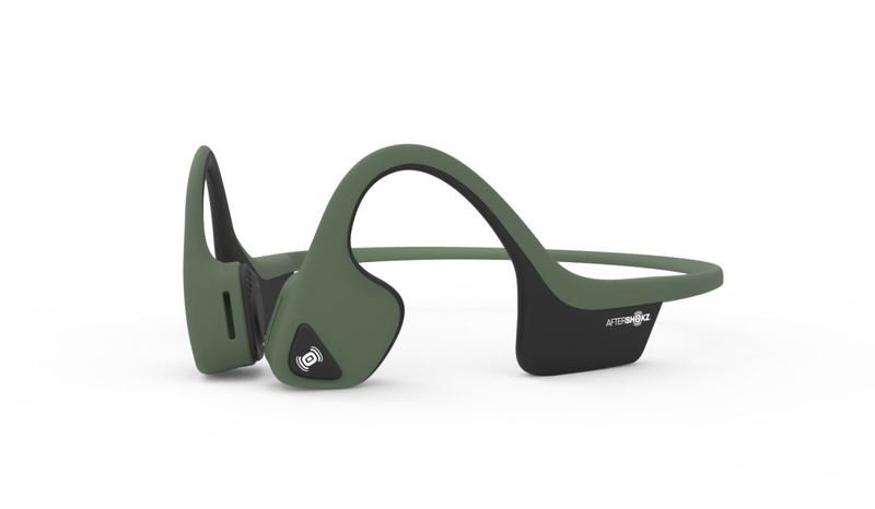 AFTERSHOKZ TREKZ AIR Wireless Headphones-Forest Green