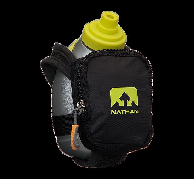 Nathan QuickShot Plus Water bottle- Black /Safety Yellow