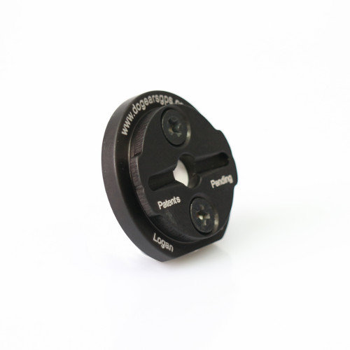 Dog Ears Replacement Plate Kit Black (for Garmin QR Mount)