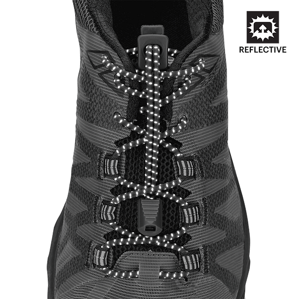 Nathan Sports Run Laces- Black