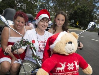 Bikies share Christmas joy at this year's Toowoomba Toy Run