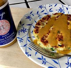 Potato pancake with Hakouya Miso Dressin