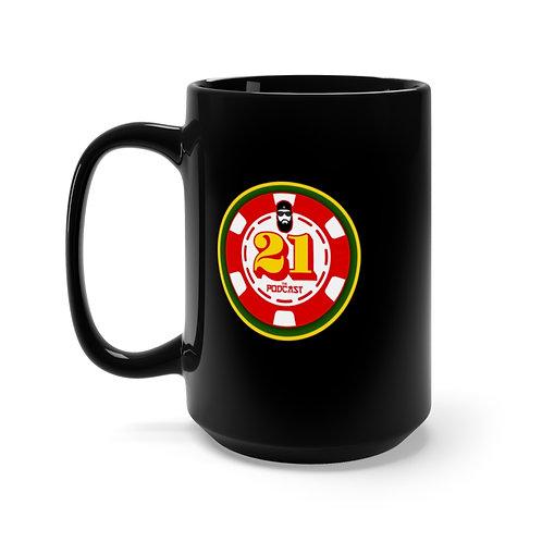 21: The Podcast Logo (Black Mug 15oz)