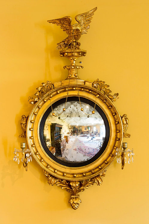 Regency Period Gilt Carved Wood Mirror