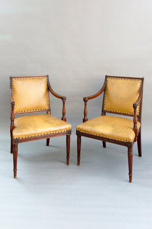 Fine Quality Carved Mahogany Armchairs