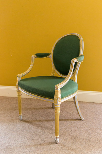 18th Century Hepplewhite Period Mahogany Armchair