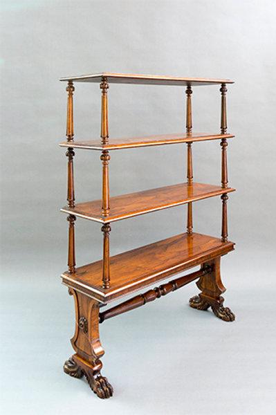 Regency period Rosewood Open Bookshelves