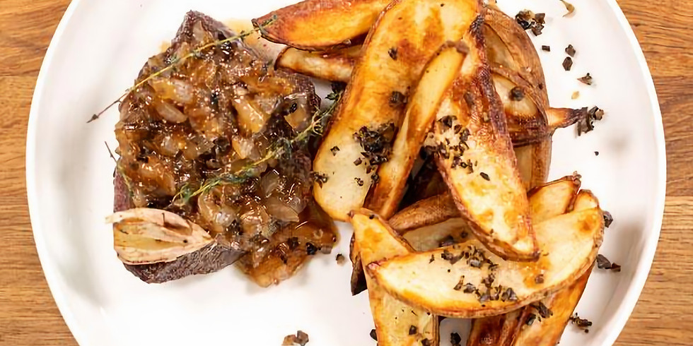 Steak Frites Dinner for Two with Truffle Shuffle