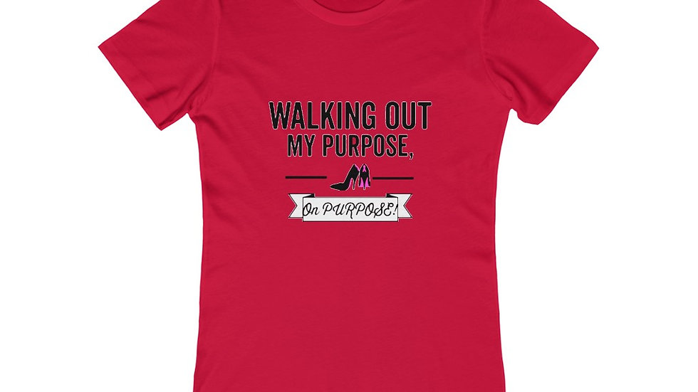 """Walking Out"" Women's The Boyfriend Tee"