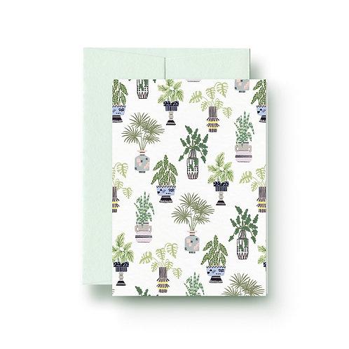 Houseplants - Grußkarte
