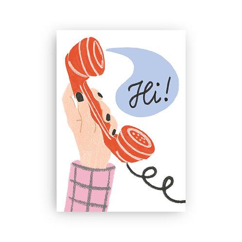Say Hi! - Postkarte
