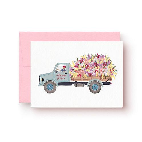 Blumenlieferung - Grußkarte