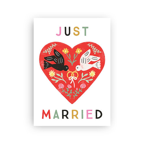Just Married - Postkarte