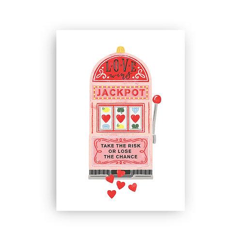 Jackpot - Postkarte