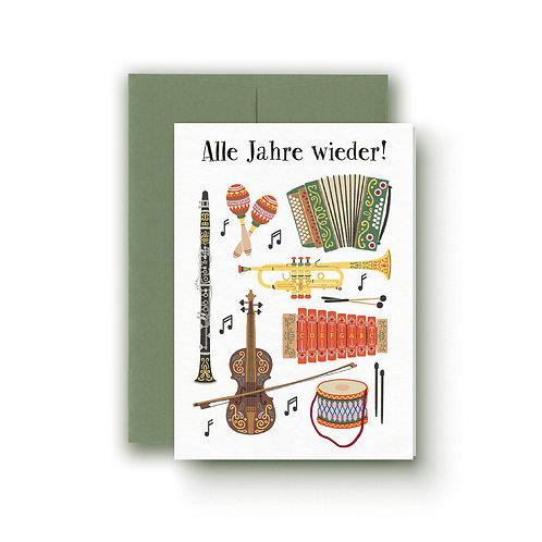 Instrumente - Weihnachtskarte