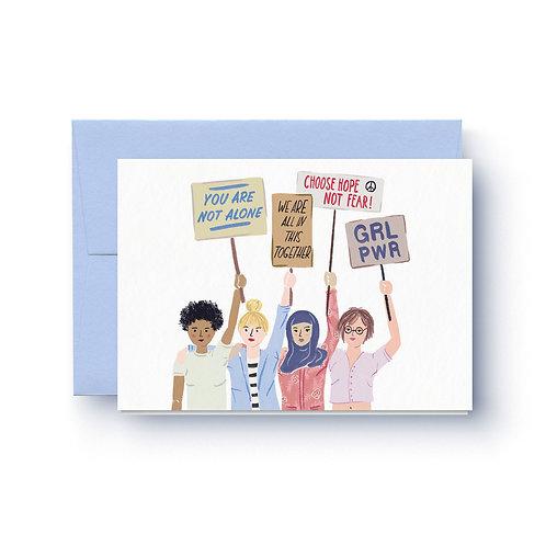 Feminists - Grußkarte
