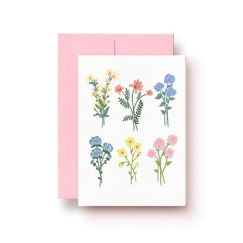 Schnittblumen - Grußkarte
