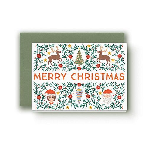 Folky Christmas - Weihnachtskarte