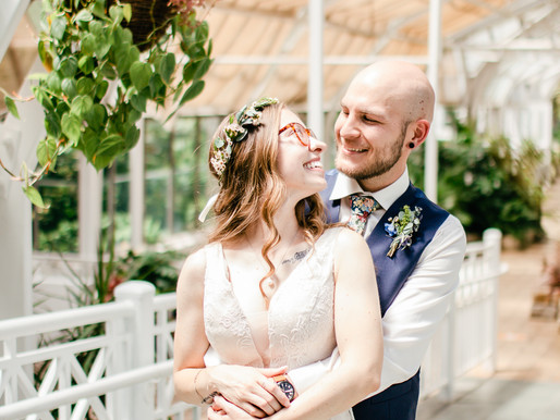 Intimate Wedding at Franklin Park Conservatory in Columbus, Ohio
