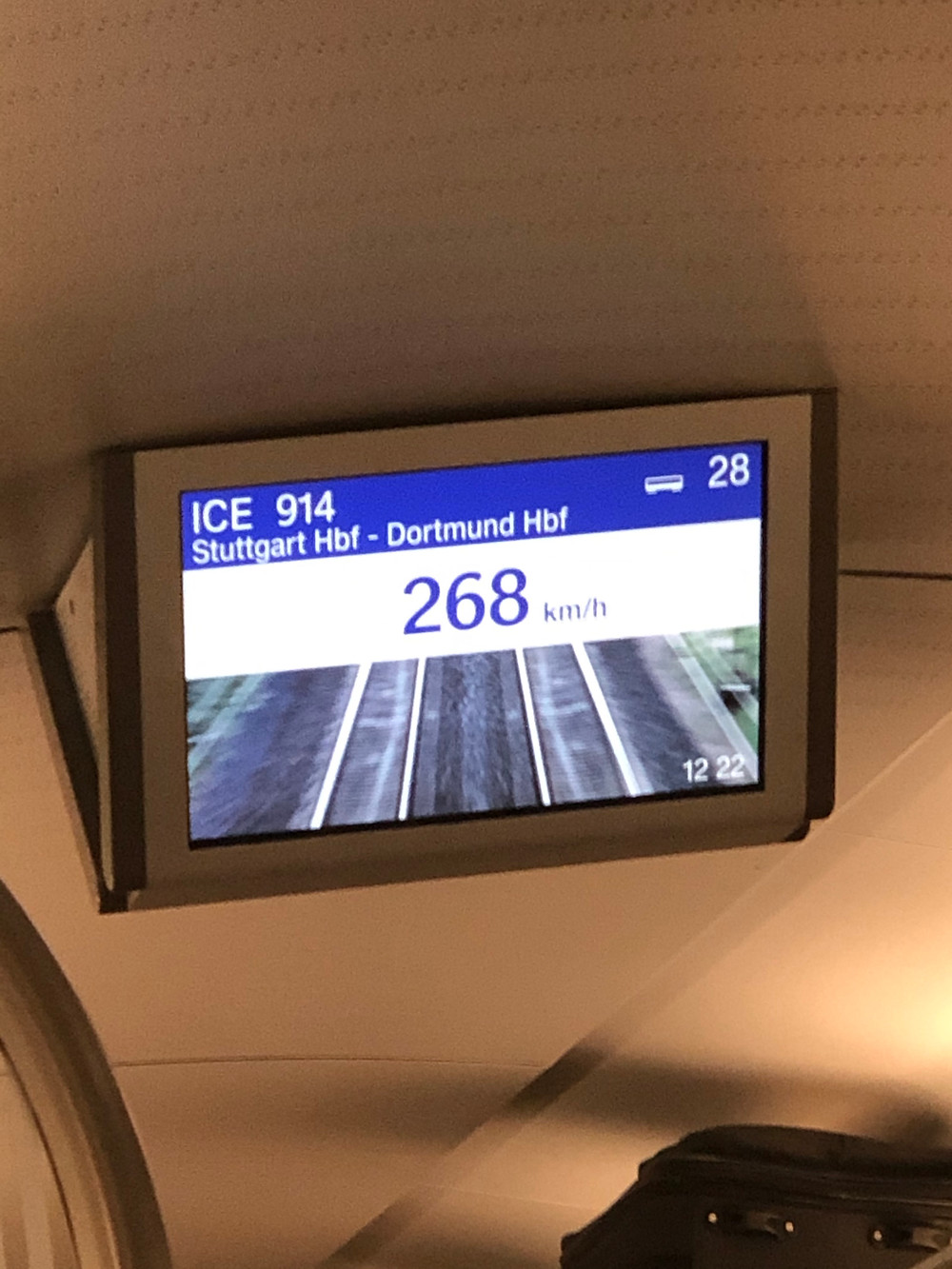 Taking the train to Düsseldorf was an experience. 160 miles per hour, and super smooth & quiet