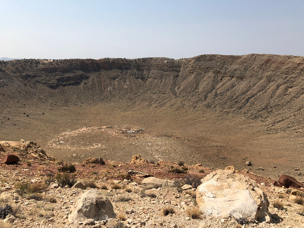 South facing view of the crater.
