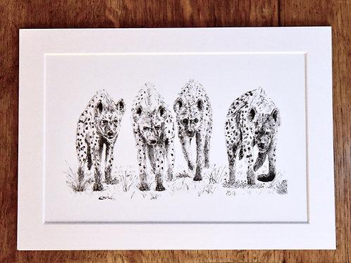 Hyenas print