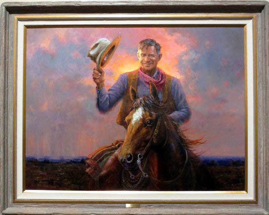 3)	Oklahoma artist Mike Wimmer's painting of Will, at the Will Rogers Memorial Museum in Claremore