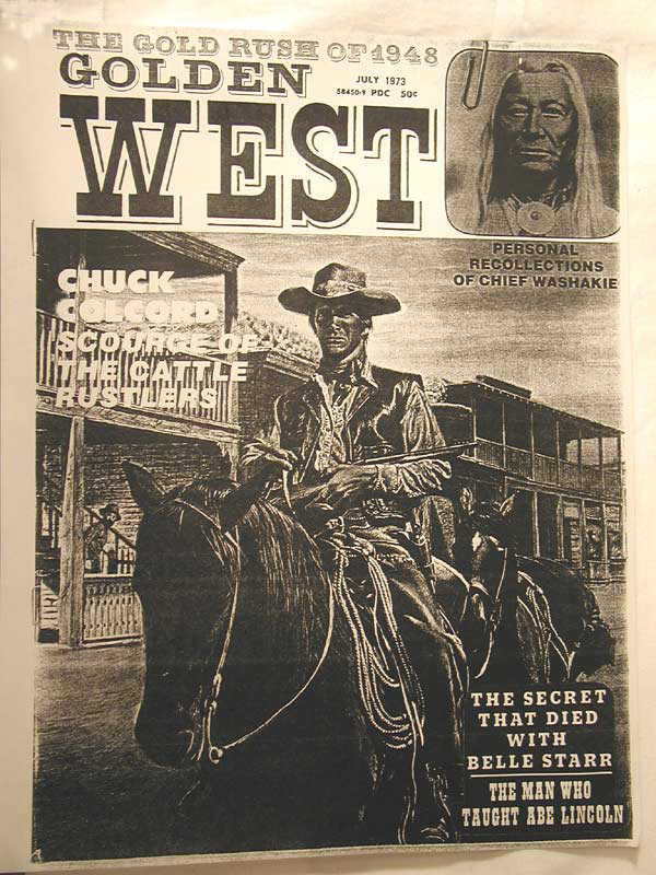 Chuck Colcord, Scourge of the Cattle Rustlers, the front cover title of an Old West magazine