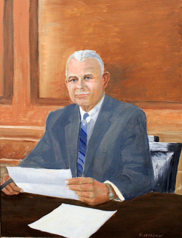 K. S. Boots Adams, longtime Phillips 66 President, CEO, and Chairman, as painted by his good friend, President Dwight Eisenhower
