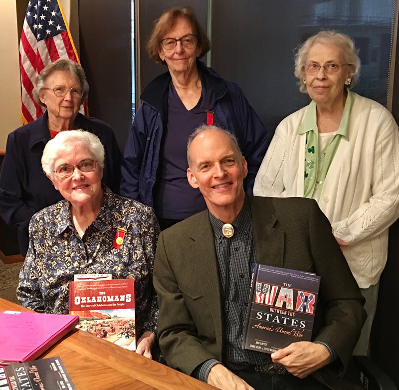 John with a few of the Oklahoma Daughters of Union Veterans