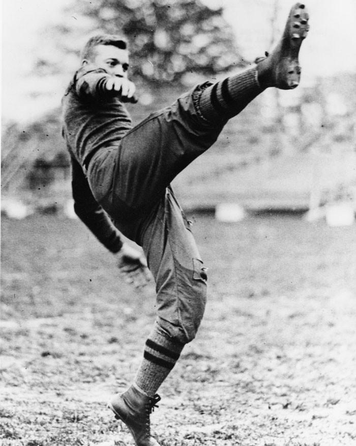 Future WW II hero and President Dwight Eisenhower, fullback, United States Military Academy