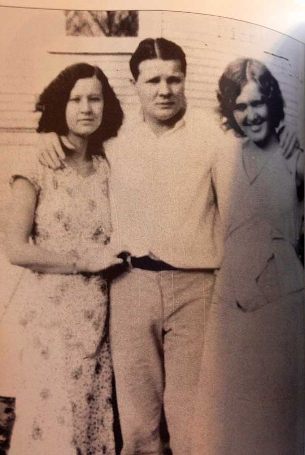 Charley with his Oklahoma childhood sweetheart and wife Ruby and her aunt Bessie Mayberry in Tulsa.