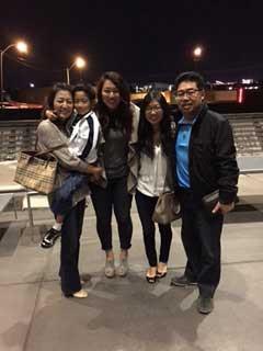 The Simon Kim family—Janice, Joshua, Casey, Diane, and Simon