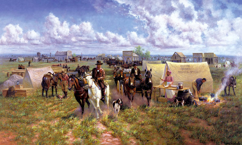 Wayne Cooper depiction of Oklahoma City