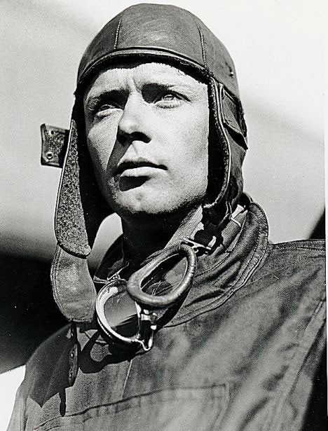 American aviation legend Charles Lindbergh, one of the main (real) characters in John's new historical novel Shortgrass