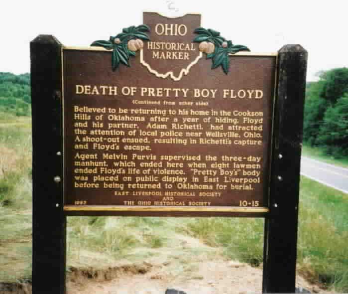 Death Marker of Pretty Boy Floyd