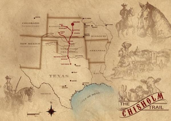 CHISHOLM TRAIL MAP